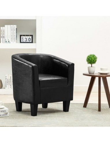 Krėslas, juodos spalvos, dirbtinė oda   Foteliai, reglaineriai ir išlankstomi krėslai   duodu.lt