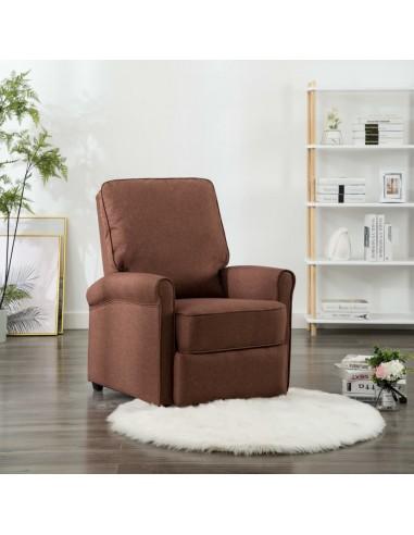 Atlošiamas TV krėslas, rudos spalvos, audinys | Foteliai, reglaineriai ir išlankstomi krėslai | duodu.lt