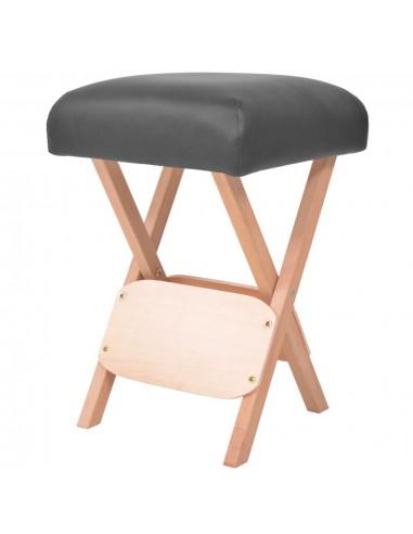 Sulankstoma taburetė masažui, juoda, 12cm storio sėdynė | Masažinės Kėdės | duodu.lt