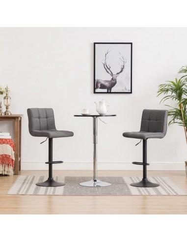 Baro taburetės, 2 vnt., tamsiai pilkos spalvos, audinys   Stalai ir Baro Kėdės   duodu.lt