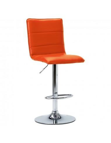 Baro kėdė, oranžinės spalvos, dirbtinė oda   Stalai ir Baro Kėdės   duodu.lt