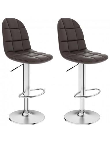 Baro taburetės, 2vnt., rudos spalvos, dirbtinė oda  | Stalai ir Baro Kėdės | duodu.lt