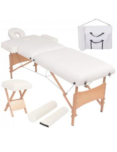 Sulanks. masaž. stalo ir kėdės komp., 2 zonų, 10cm stor., balt.   Masažiniai Stalai   duodu.lt