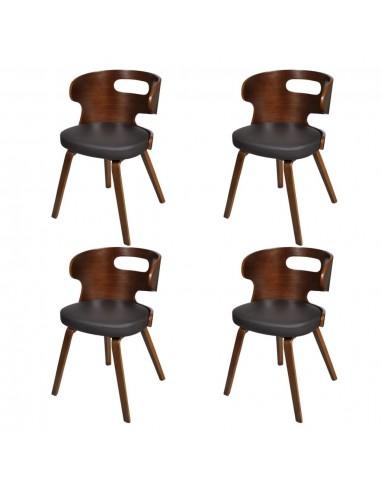 Valgomojo kėdės, 4 vnt., medinis rėmas, rudos    Virtuvės ir Valgomojo Kėdės   duodu.lt