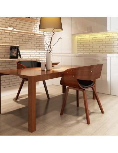 Valgomojo kėdės, 2 vnt., medinės, rudos    Virtuvės ir Valgomojo Kėdės   duodu.lt