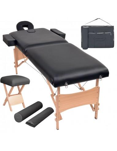 2 zonų sulankst. masaž. stalo ir kėdės komp., 10cm stor., juod.   Masažiniai Stalai   duodu.lt