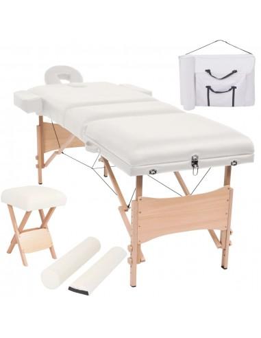 Sulanks. masaž. stalo ir kėdės komp., 3 zonų, 10cm stor., balt.   Masažiniai Stalai   duodu.lt