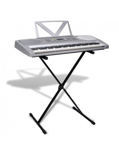 61 Klavišo Sintezatorius su Stovu Natoms + Stovas Sintezatoriui   Klavišiniai Muzikos Instrumentai   duodu.lt