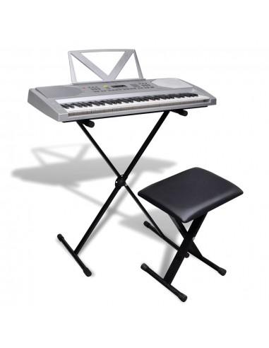 61 Klavišo Sintezatorius su Stovu ir Kėdute | Klavišiniai Muzikos Instrumentai | duodu.lt