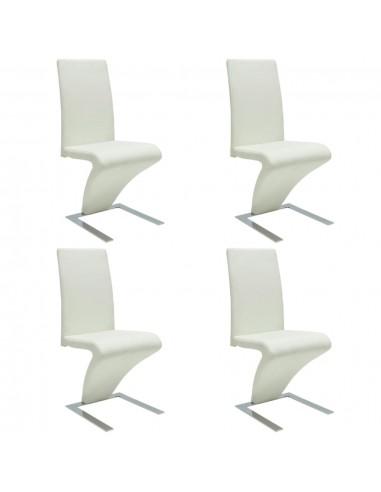 Valgomojo kėdės, 4vnt., geležinės kojelės, dirbt. oda, baltos    Virtuvės ir Valgomojo Kėdės   duodu.lt