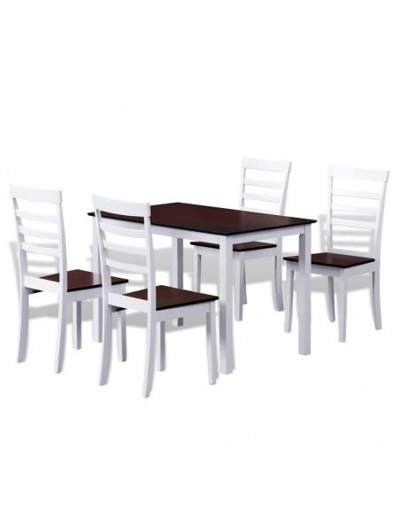 Valgomojo baldų komplektas, 5d., bambukas | Virtuvės ir Valgomojo Baldų Komplektai | duodu.lt
