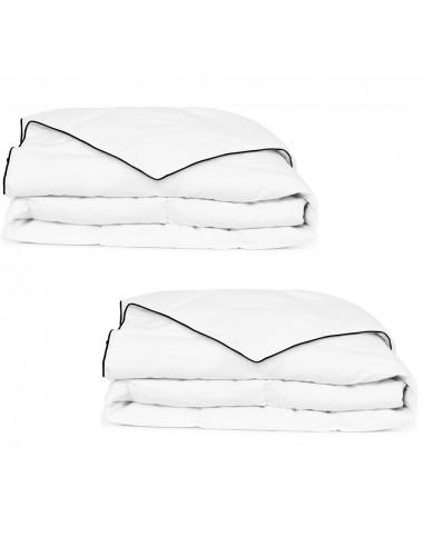 Pūkinė antklodė, žieminė, 2vnt., 150x200cm, balta | Dygsniuotos ir pūkinės antklodės | duodu.lt