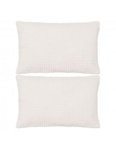 Pagalvėlių rinkinys, 2vnt., veliūras, 40x60cm, balta spalva   Dekoratyvinės pagalvėlės   duodu.lt