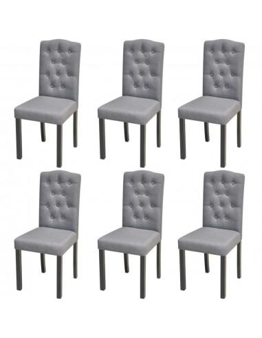 Valgomojo kėdės, 6 vnt., audinys, tamsiai pilkos  | Virtuvės ir Valgomojo Kėdės | duodu.lt