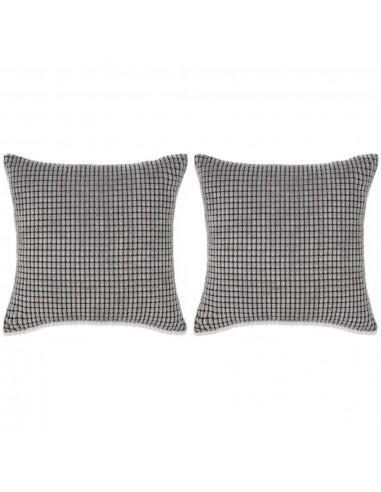 Pagalvėlių rinkinys, 2vnt., veliūras, 45x45cm, pilka spalva | Dekoratyvinės pagalvėlės | duodu.lt