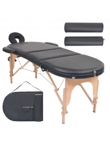 Sulankst. masaž. stal., 10 cm storio, su 2 atram., oval., juod.   Masažiniai Stalai   duodu.lt