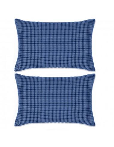 Pagalvėlių rinkinys, 2vnt., veliūras, 40x60cm, mėlyna spalva | Dekoratyvinės pagalvėlės | duodu.lt