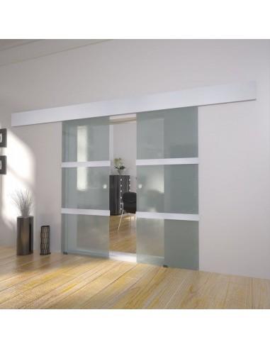 Dvigubos slankiojančios durys, stiklas | Namų Durys | duodu.lt