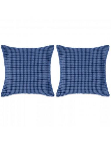 Pagalvėlių rinkinys, 2vnt., veliūras, 60x60cm, mėlyna spalva   Dekoratyvinės pagalvėlės   duodu.lt