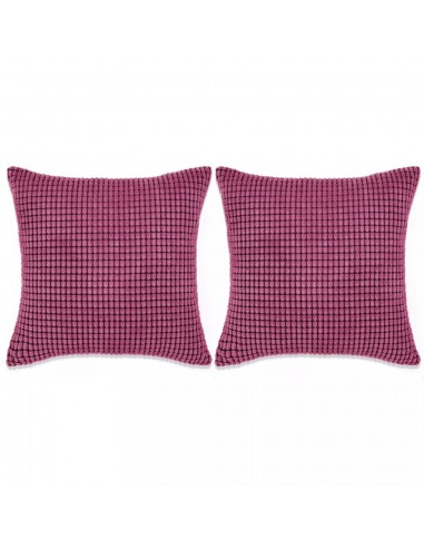 Pagalvėlių rinkinys, 2vnt., veliūras, 45x45cm, rožinė spalva | Dekoratyvinės pagalvėlės | duodu.lt