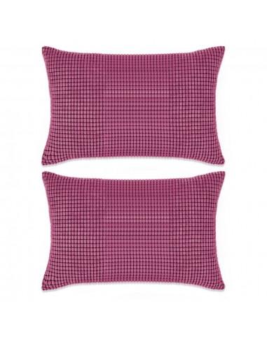Pagalvėlių rinkinys, 2 vnt., veliūras, 40x60 cm, rožinė spalva   Dekoratyvinės pagalvėlės   duodu.lt
