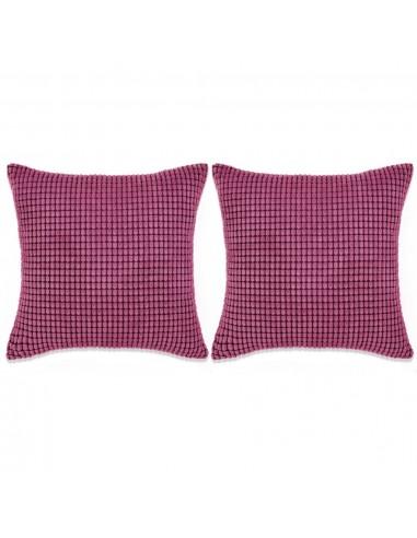 Pagalvėlių rinkinys, 2vnt., veliūras, 60x60cm, rožinė spalva   Dekoratyvinės pagalvėlės   duodu.lt