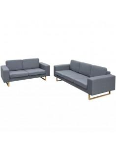 Valgomojo kėdės, 4 vnt., audinys, šviesiai pilkos   Virtuvės ir Valgomojo Kėdės   duodu.lt