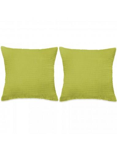 Pagalvėlių rinkinys, 2vnt., veliūras, 45x45cm, žalia spalva   Dekoratyvinės pagalvėlės   duodu.lt