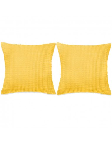 Pagalvėlių rinkinys, 2vnt., veliūras, 45x45cm, geltona spalva   Dekoratyvinės pagalvėlės   duodu.lt