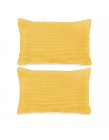 Pagalvėlių rinkinys, 2vnt., veliūras, 40x60cm, geltona spalva   Dekoratyvinės pagalvėlės   duodu.lt