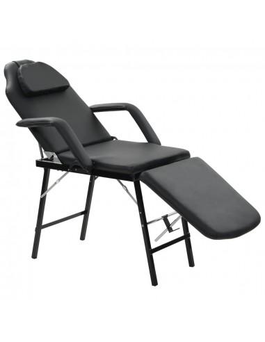 Kilnojama kosmetologinė kėdė, dirbtinė oda, 185x78x76cm, juoda   Masažinės kėdės   duodu.lt