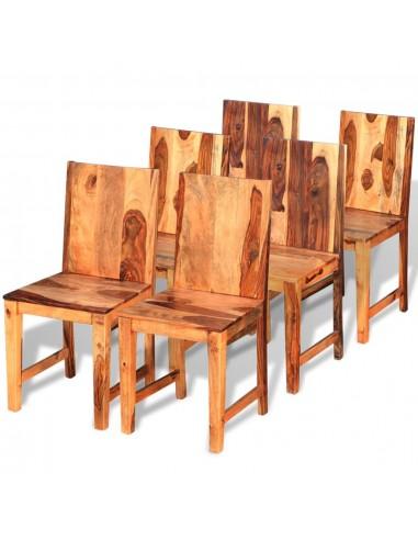 Valgomojo kėdės, 6 vnt., masyvi rausvosios dalbergijos mediena | Virtuvės ir Valgomojo Kėdės | duodu.lt