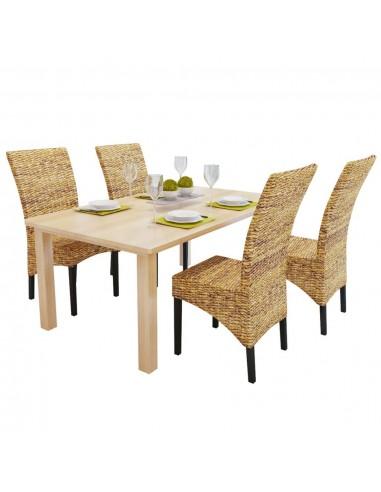 Valgomojo kėdės, 4 vnt., abaka, rudos | Virtuvės ir Valgomojo Kėdės | duodu.lt