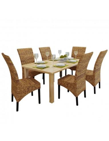Valgomojo kėdės, 6 vnt., abaka, rudos | Virtuvės ir Valgomojo Kėdės | duodu.lt