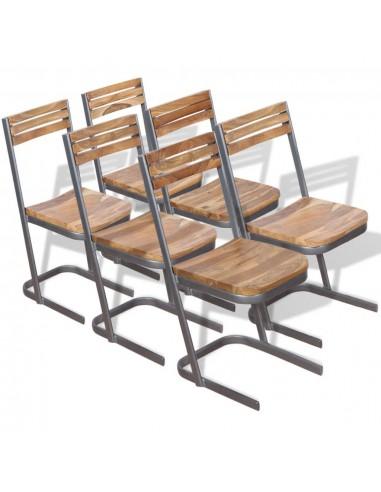 Valgomojo kėdės, 6 vnt., masyvus tikmedis | Virtuvės ir Valgomojo Kėdės | duodu.lt