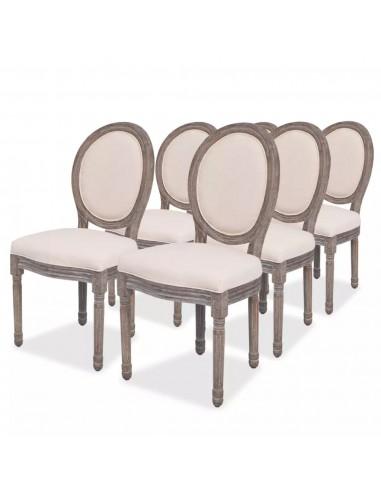 Valgomojo kėdės, 2 vnt., linas    Virtuvės ir Valgomojo Kėdės   duodu.lt