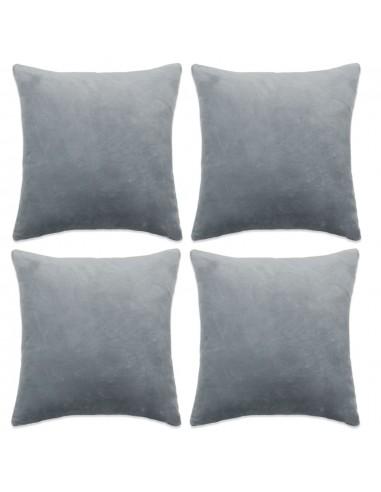 Pagalvėlių užvalkalai, 4 vnt., veliūras, 50x50 cm, pilkos sp.    Dekoratyvinės pagalvėlės   duodu.lt