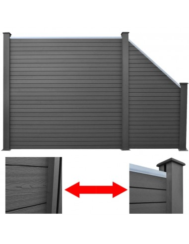 Tvoros plokščių rinkinys, 1 kvadr.+1 nuož., 283cm WPC, rudas  | Tvoros Segmentai | duodu.lt
