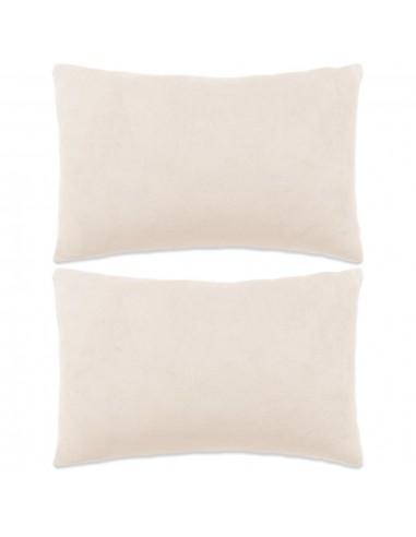 Pagalvėlių rinkinys, 2vnt., veliūras, 40x60cm, balkšva spalva   Dekoratyvinės pagalvėlės   duodu.lt