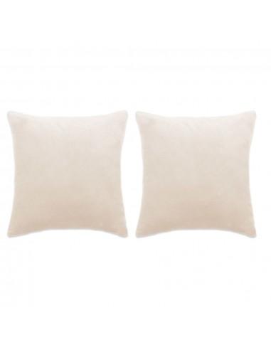 Pagalvėlių rinkinys, 2vnt., veliūras, 60x60cm, balkšva sp.   Dekoratyvinės pagalvėlės   duodu.lt