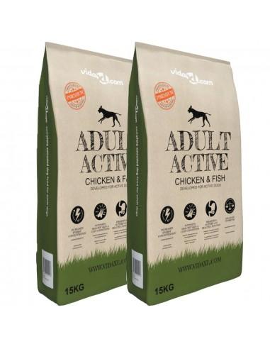Sausas maistas šunims, Adult Active Chicken & Fish, 2vnt., 30kg | Maistas šunims | duodu.lt