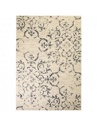 Modernus kilimas, gėlėtas diz., 80x150cm, smėlio/mėlyna   Kilimėliai   duodu.lt