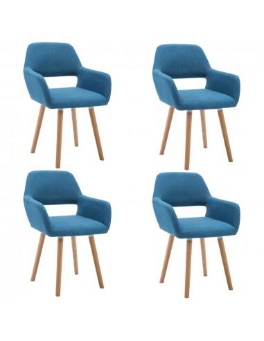 Valgomojo kėdės, 4vnt., aud. apmuš., 56x54x80cm, mėlynos | Virtuvės ir Valgomojo Kėdės | duodu.lt