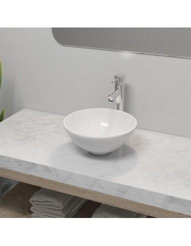 Vonios praustuvas su vandens maišyt., keram., apvalus, baltas    Vonios praustuvai   duodu.lt