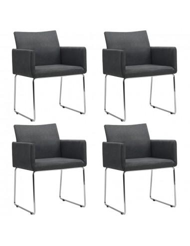 Valgomojo kėdės, 4 vnt., tamsiai pilkos (2x246856) | Virtuvės ir Valgomojo Kėdės | duodu.lt