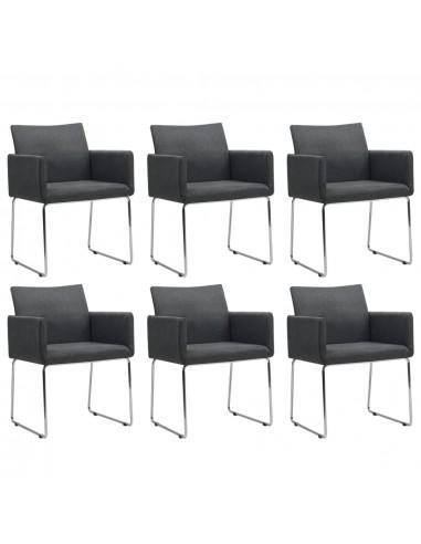 Valgomojo kėdės, 6 vnt., tamsiai pilkos (3x246856)   Virtuvės ir Valgomojo Kėdės   duodu.lt