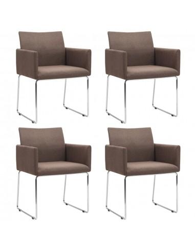 Valgomojo kėdės, 4vnt., rudos (2x246858) | Virtuvės ir Valgomojo Kėdės | duodu.lt