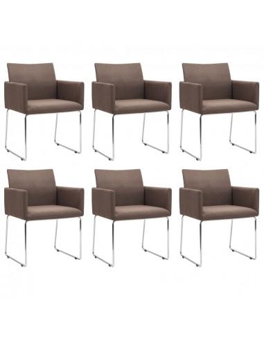Valgomojo kėdės, 6 vnt., rudos (3x246856)   Virtuvės ir Valgomojo Kėdės   duodu.lt