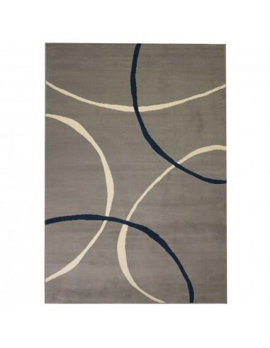 Modernus kilimas, apskritimų raštas, 160x230cm, pilkas   Kilimėliai   duodu.lt