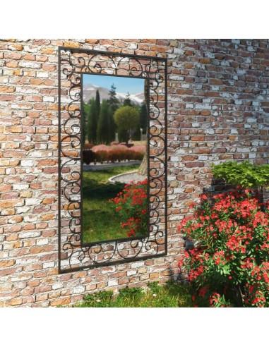 Sodo sieninis veidrodis, stačiakampio form., 60x110cm, juodas | Veidrodžiai | duodu.lt
